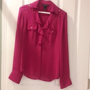 size 0 silk Purplish/ Pink WHBM blouse